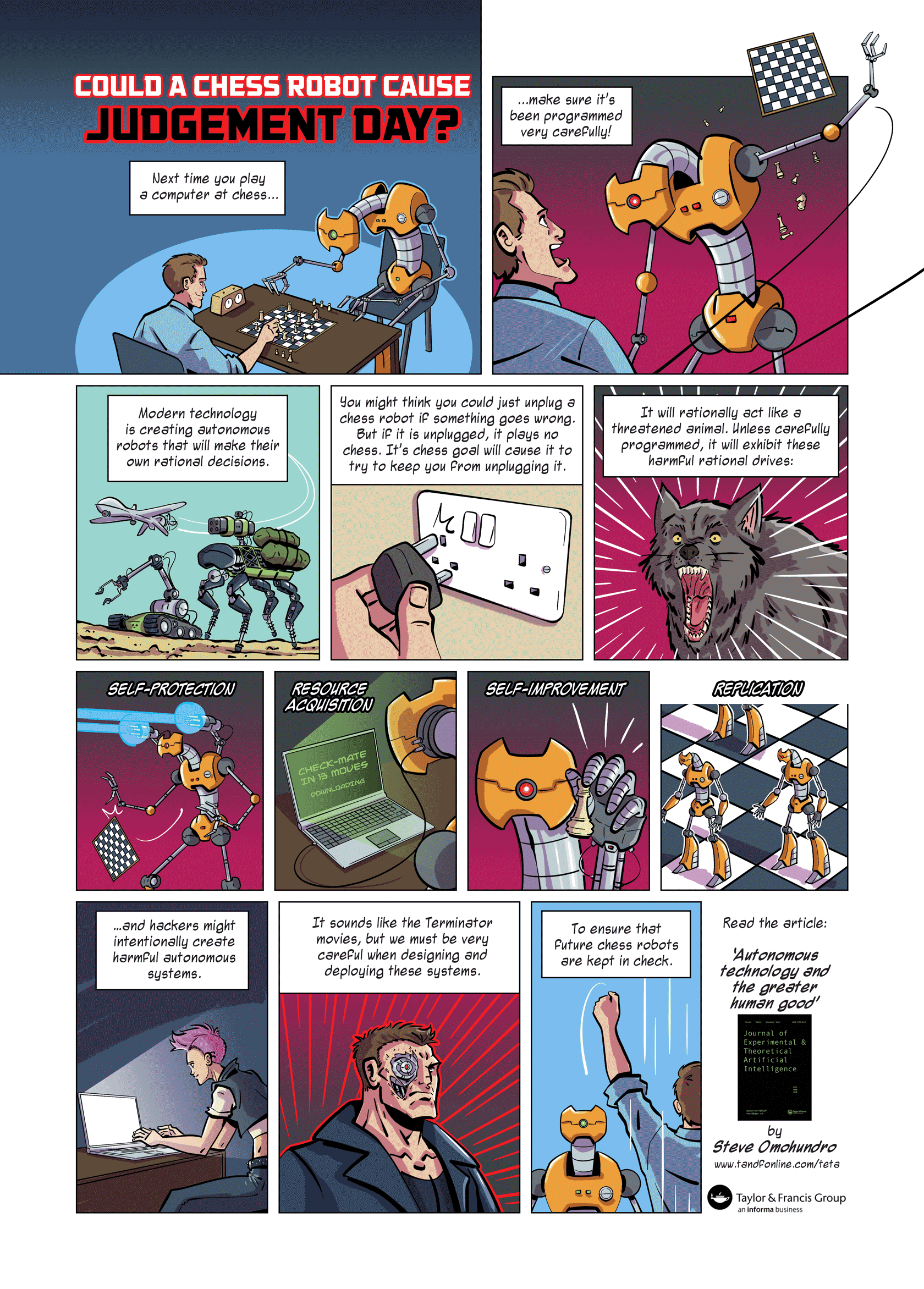 taylor francis comic strip could a chess robot cause judgement tf chess robots web